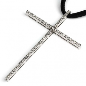 White Gold Diamond Cross 0.75ct